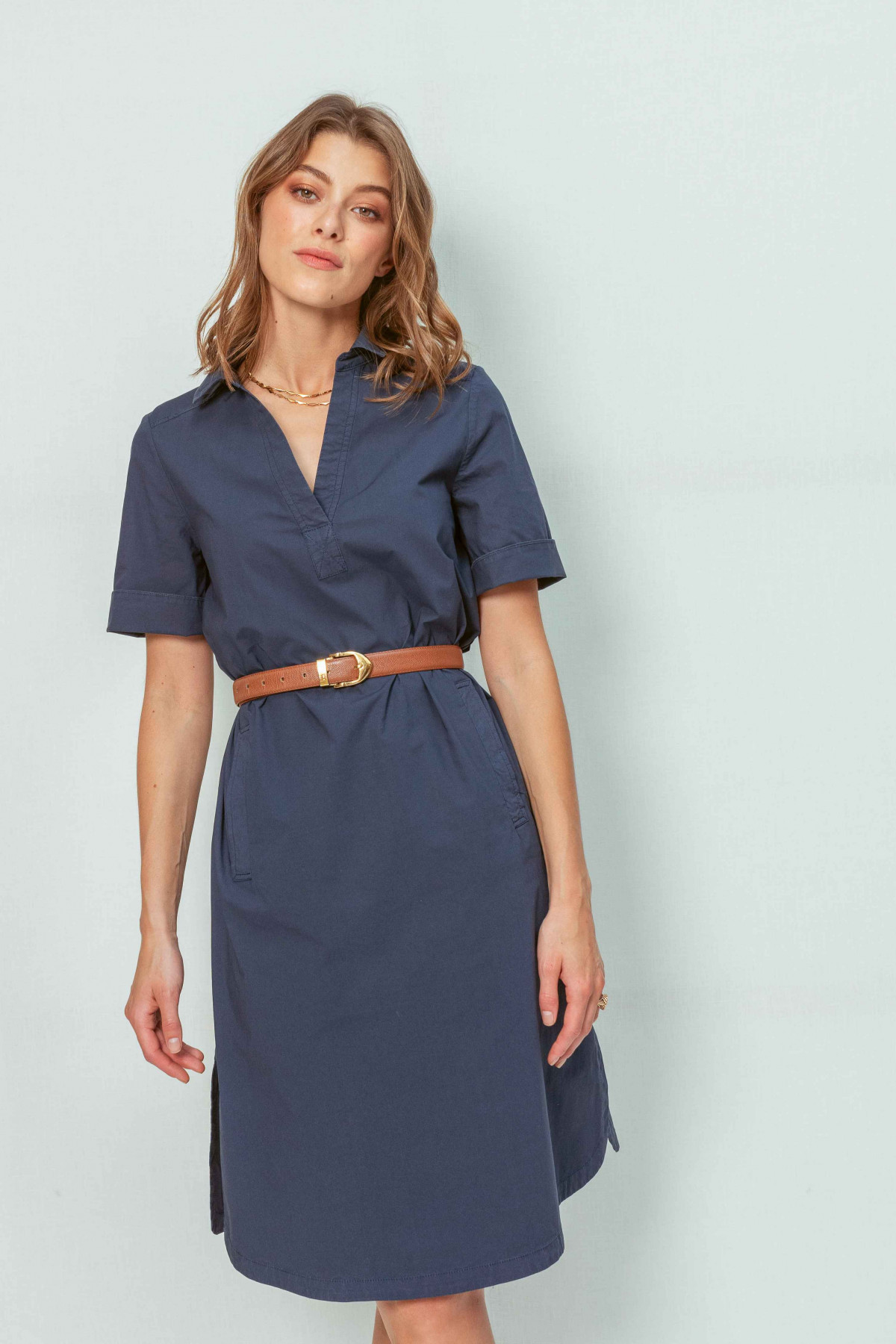 Robe droite TANCREDE TER - Marine