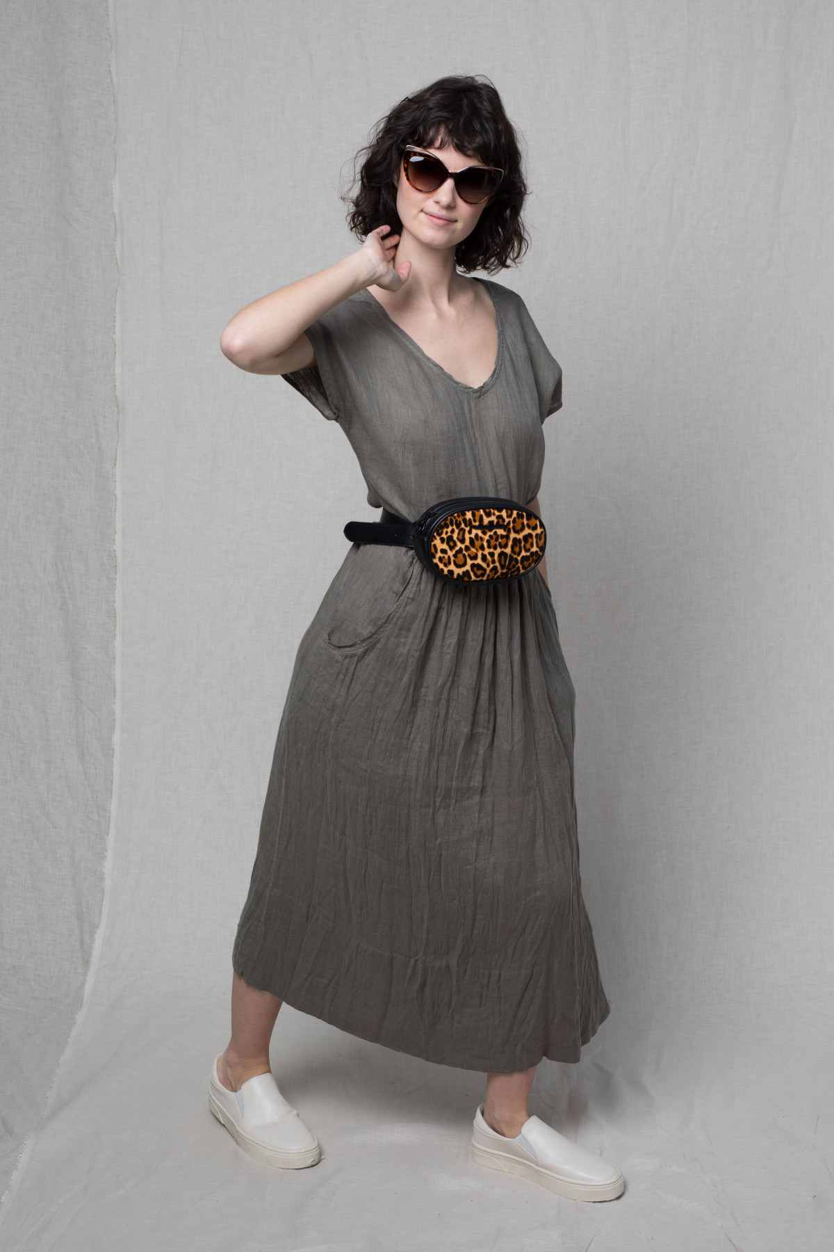 Robe ample TANGY - Argile