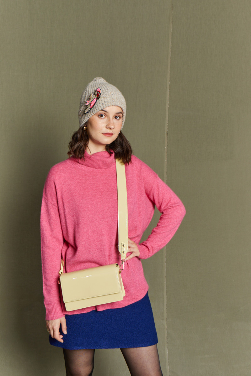 Pull Col Roulé Lambswool et...