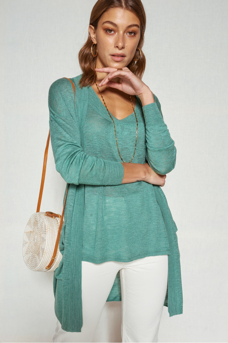 Cardigan long MANGUE - Jade