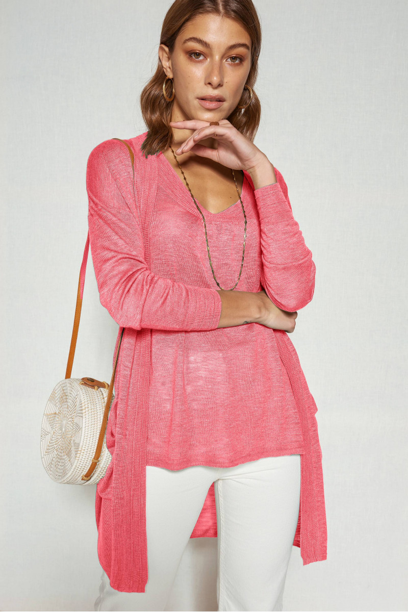 Cardigan long MANGUE - Pink