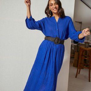 Total look bleu roi pour les belles reines que vous êtes. 💙 --- Total bleu look for all the beautiful girls that you are. 💙